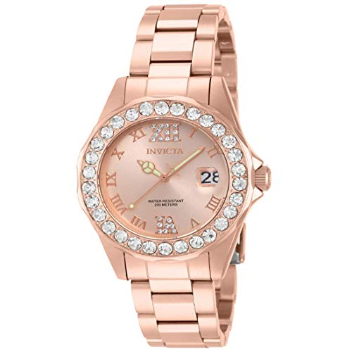 Invicta Women's Pro Diver Rose Gold Ion-Plated Stainless Steel Watch