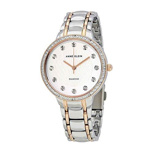 Anne Klein Women's Diamond-Accented Silver-Tone Watch