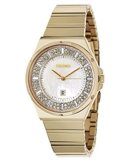 Seiko Women's Matrix Analog Display Japanese Quartz Gold Watch