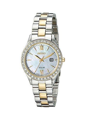Seiko Women's Dress Two-Tone Stainless Steel Swarovski Crystal Watch