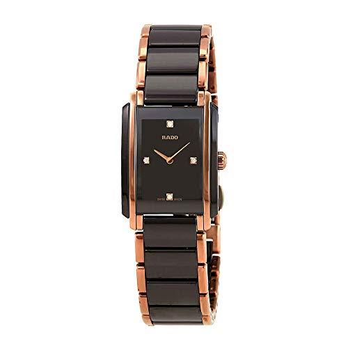 Rado Integral Black Diamond Dial Ladies Watch