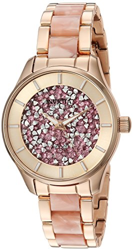 Invicta Women's Angel Quartz Watch with Stainless-Steel Strap, Rose Gold