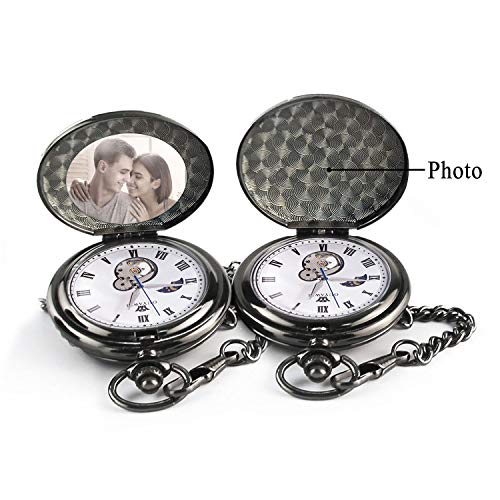 Boyfriends Gifts Personalized Mechanical Pocket Watch with Gift Box Boyfriends Gifts for Valentine's Day, Anniversary, Birthday Graduation Christmas Mens Personalized Mechanical Pocket Watch with Gift Box (to My Love)