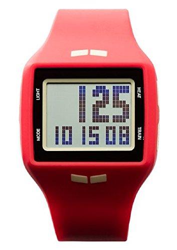 Vestal Unisex Helm Digital Display Quartz Red Watch