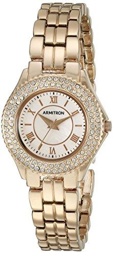 Armitron Women's Swarovski Crystal Accented Rose Gold-Tone Bracelet Watch