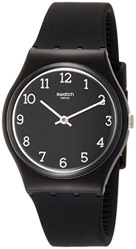 Swatch Originals Blackway Black Dial Silicone Strap Unisex Watch