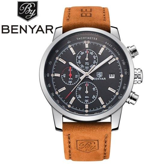 BENYAR Brand Sport Men Watch Top Brand Luxury Male Watch