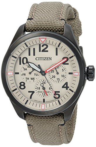 Citizen Men's 'Military' Quartz Stainless Steel and Nylon Casual Watch