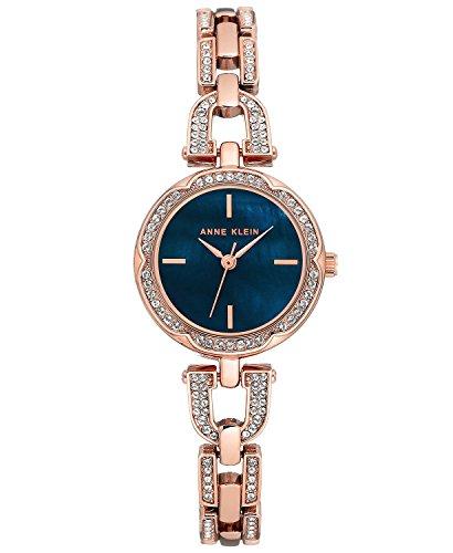 Anne Klein Women's Rose Gold-Tone Stainless Steel Bracelet Watch