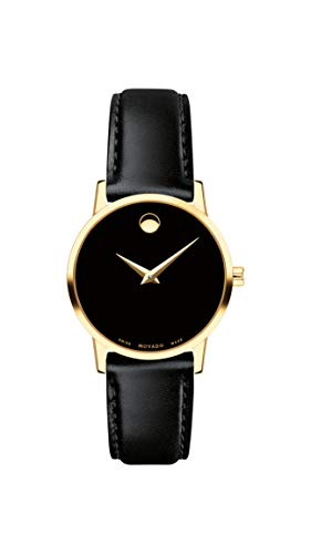 Movado Women's Museum Yellow Gold Watch with a Concave Dot