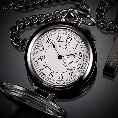 KS Half Hunter Series Men's Japan quartz Gold Steel Case Chain Pocket Watch For detail directions of the watch, you can get to our Kronen & Söhne official site to download. In the event that any inquiries, kindly don't falter to get in touch with us.
