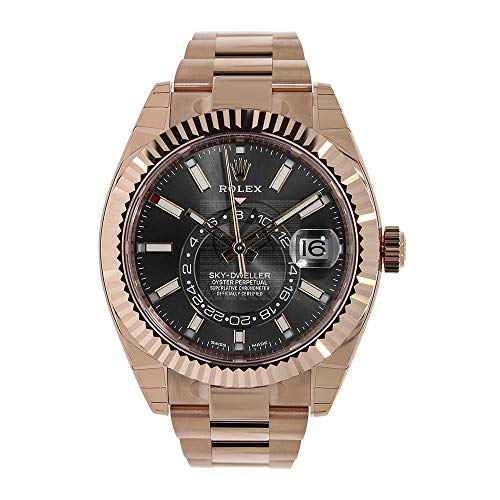 Rolex Sky Dweller Chocolate Dial Rose Gold Men's Watch
