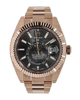 Rolex Sky Dweller Chocolate Dial Rose Gold Men's Watch