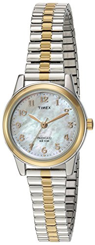 Timex Women's Essex Avenue Two-Tone Extra Long Stainless Steel Band Watch