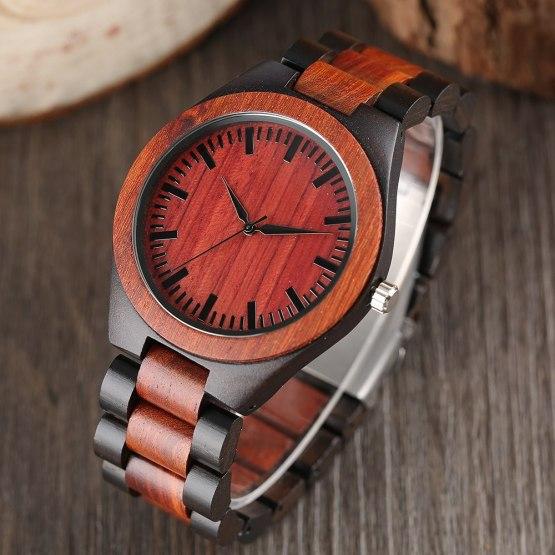 Men's Fashion Nature Wood Wrist Watch Novel Handmade Sport