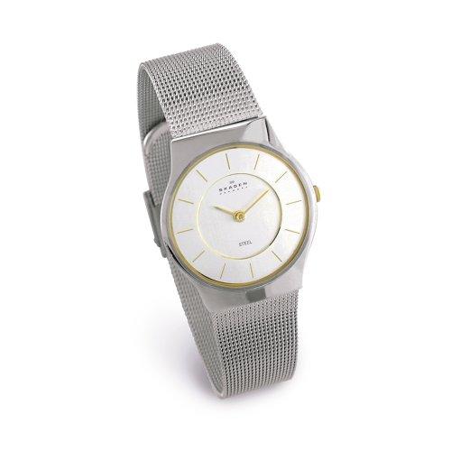 Skagen Women's Two-Tone Mesh Bracelet Watch