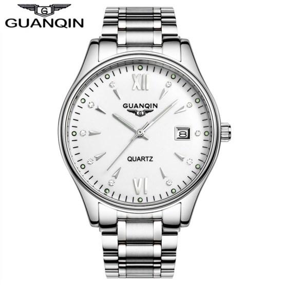 Watch Quartz Men luxury brand GUANQIN Casual Dress watch