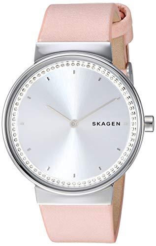 Skagen Women Annelie Quartz Stainless Steel and Leather Watch