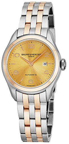 Baume & Mercier Clifton Womens Two Tone Automatic Watch