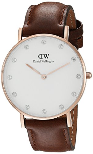 Daniel Wellington Women's Classy St. Mawes Watch With Brown Leather Band