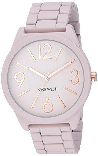 Nine West Women's Matte Blush Pink Rubberized Bracelet Watch
