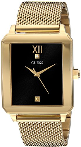GUESS Men's Stainless Steel Diamond Dial Watch