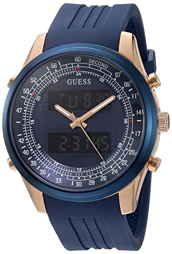 GUESS Men's U0862G1 Trendy Rose Gold-Tone Stainless Steel Watch