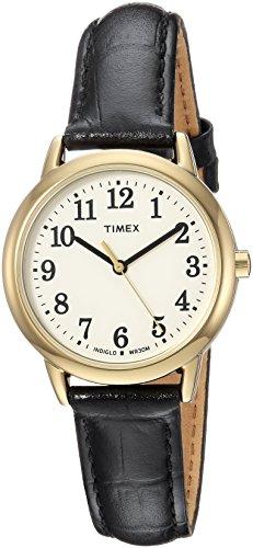 Timex Women's Easy Reader Black Croco Pattern Leather Strap Watch
