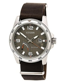Citizen Men's Eco-Drive Stainless Steel Citizen Leather Strap Watch