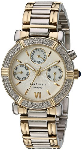 Anne Klein Women's Diamond Accented Multi-Function Two-Tone Watch
