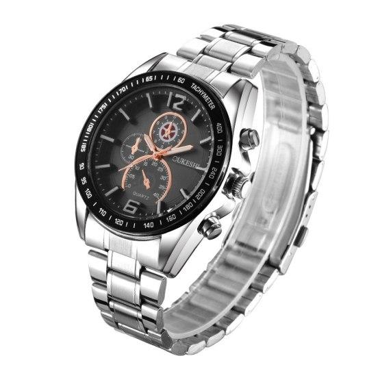 OUKESHI Luxury Top Brand Men's Watch tungsten steel Wrist Watch