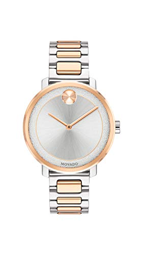 Movado Women's Bold Sugar Dial 2-Tone Watch with a Flat Dot