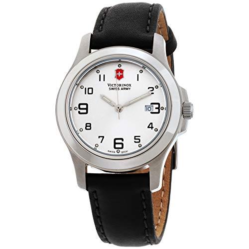 Victorinox Garrison Elegance Silver Dial Leather Strap Ladies Watch