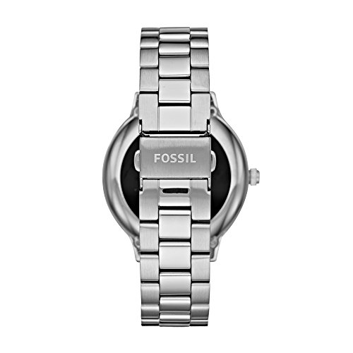 Fossil Q Women's Gen 3 Venture Stainless Steel Smartwatch  Smartphone notices, touchscreen usefulness, movement following, custom objective & caution settings, adaptable watch faces & watch groups, music controls & small scale applications, amplifier & speaker controls, extra outsider applications accessible through Google Play Store on your watch    Estimated 24 hour battery life, in view of utilization; charger included; water safe IP67: dust & sprinkle resistant Case measure: 42mm; Band estimate: 18mm; imported Stainless steel case and wrist trinket with organization fasten conclusion; tradable with all Fossil 18mm bands Powered with Wear OS by Google; good with Android OS 4.4+ (barring Go release) and iOS 9.3+ cell phones; Bluetooth 4.1 Low Energy and Wi-Fi 802.11 b/g/n; bolstered highlights may fluctuate among stages and countries   A smartwatch that (really) looks like it. With another full-round advanced showcase, our Venture offers different highlights like adjustable appearances, tactful warnings and programmed movement following to help make your life easier—and more sleek. Smartwatches fueled with Wear OS by Google are good with iPhone(R) and Android(TM) telephones. Wear OS by Google and other related imprints are trademarks of Google LLC. Touchscreen smartwatches fueled with Wear OS by Google require a telephone running Android OS 4.4+ (barring Go version) or iOS 9.3+. Upheld highlights may fluctuate between stages. To stay away from harm to your watch, just use with included charger. Try not to utilize a USB center point, USB splitter, USB y-link, battery pack or other fringe gadget to charge. Item ought to be warded off more than 20cm from embedded restorative gadgets to limit potential for RF interference. Fossil Q Women's Gen 3 Venture Stainless Steel Smartwatch, Color: Silver-Tone (Model: FTW6003)