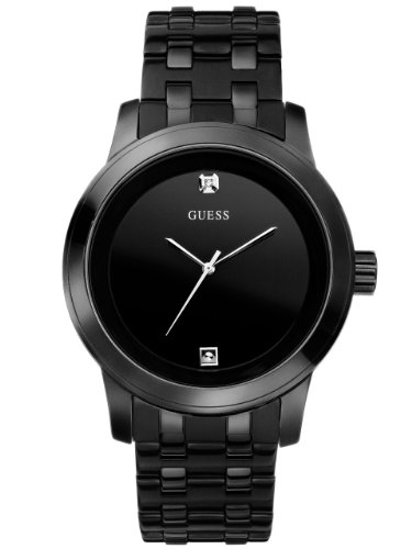 GUESS Men's Stainless Steel Diamond Dial Bracelet Watch