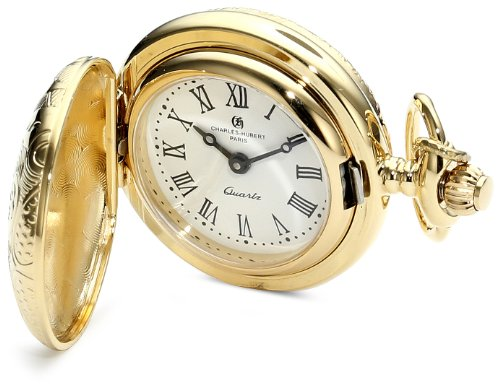 Charles-Hubert, Paris Classic Collection Gold-Plated Pocket Watch