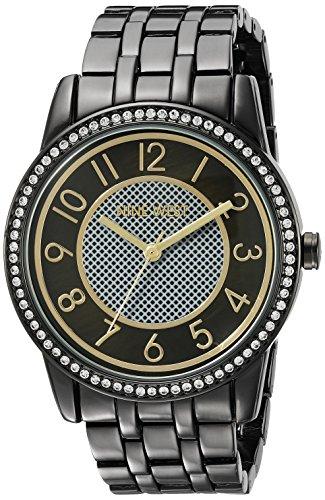 Nine West Women's Easy To Read Swarovski Crystal Accented Bracelet Watch