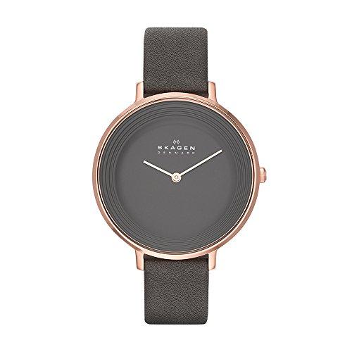 Skagen Women's SKW2216 Ditte Grey Leather Watch