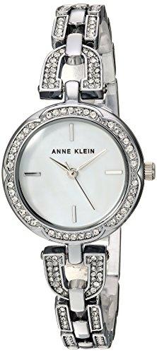 Anne Klein Women's AK/3153MPSV Swarovski Crystal Accented Silver-Tone Bracelet Watch