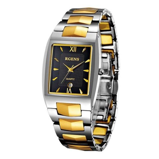 luxury mens wrist watches Tungsten steel quartz clocks