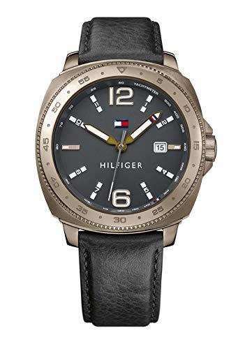 Tommy Hilfiger Black Leather Watch-1791429