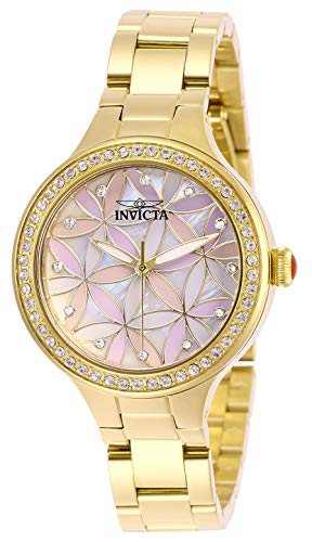 Invicta Women's Wildflower Quartz Stainless-Steel Strap, Gold, 14 Casual Watch
