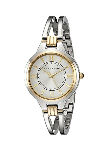 Anne Klein Women's Two-Tone Open Bangle Watch
