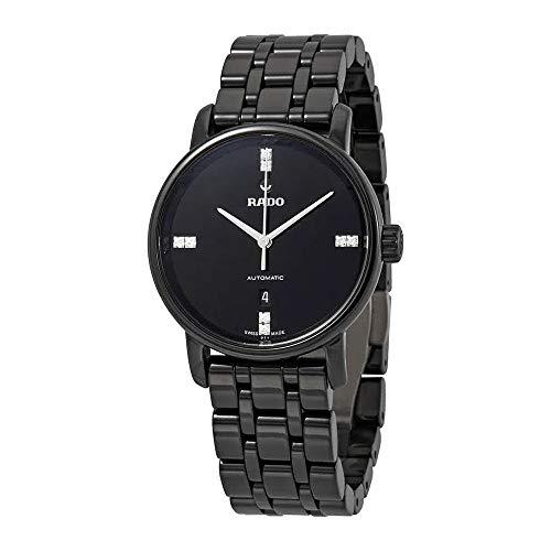 Rado DiaMaster Automatic Diamond Black Dial Ladies Watch