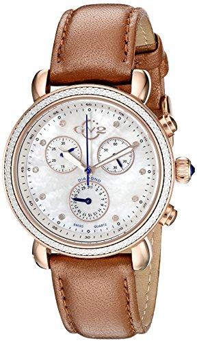 GV2 by Gevril Women's 9805 Marsala Analog Display Swiss Quartz Gold Watch