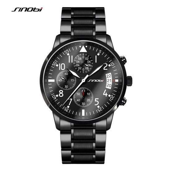 SINOBI New Pilot Mens Chronograph Wrist Watch Waterproof Date