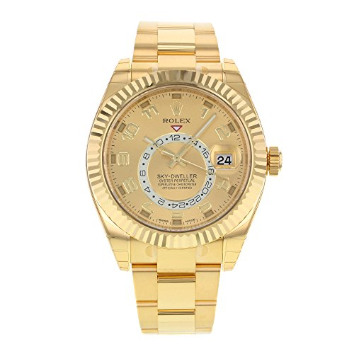 NEW Rolex Sky Dweller 18K Yellow Gold Mens watch