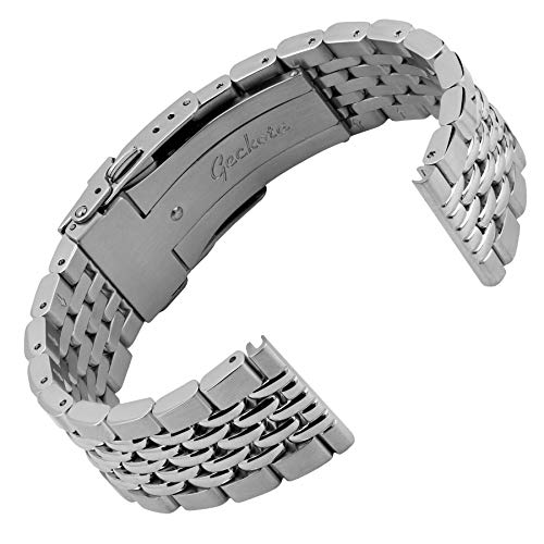 Geckota Beads of Rice Solid 316L Stainless Steel Watch Band Geckota presents the new Beads of Rice tempered steel watch band.