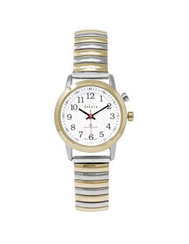 Dakota Ladies Nurse Easy to Read Moonglow Dial Stainless Steel Watch