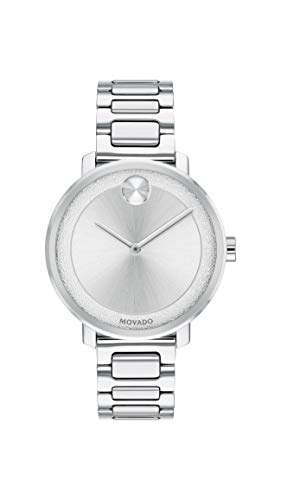 Movado Women's Bold Sugar Dial Stainless Steel Watch with a Flat Dot